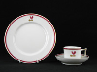 Cock Crest on Tableware